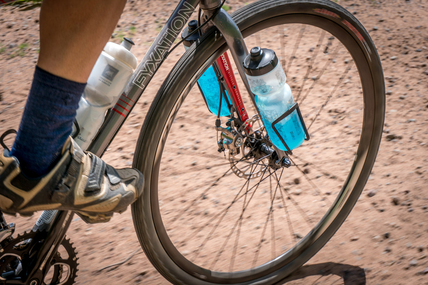 Clement Xplor MSO tire in action on the gravel