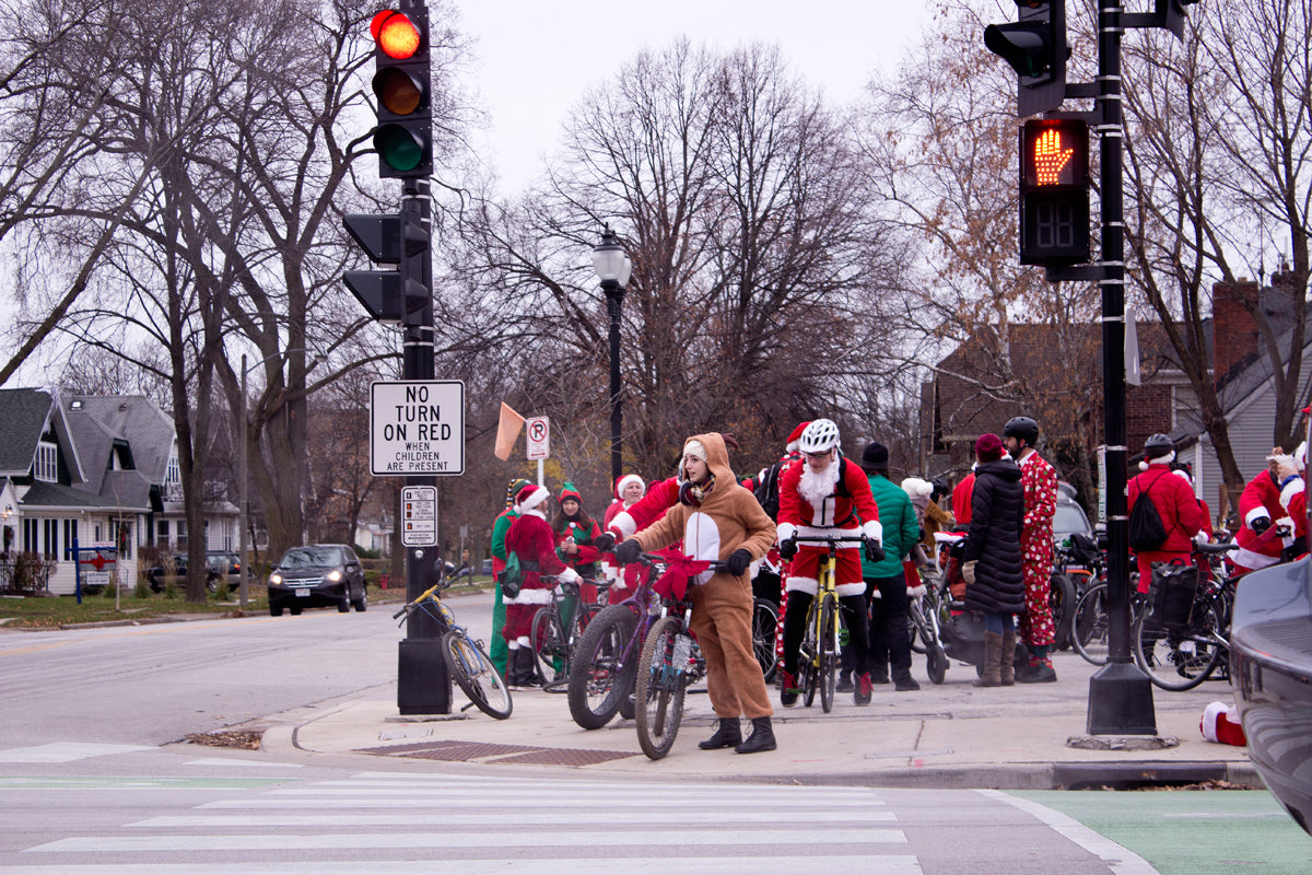 Pre Santa Rampage riders gather in Wauwatosa