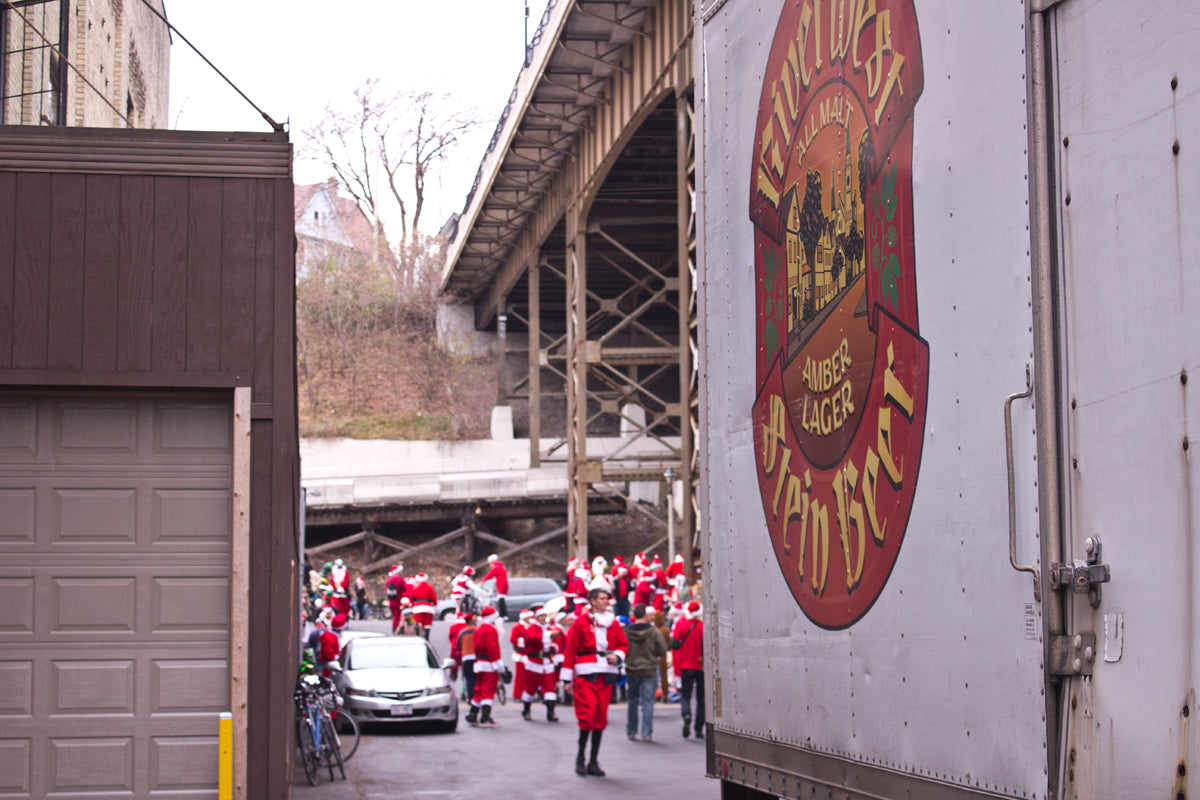 Lakefront Brewery is the first stop on the Santa Rampage