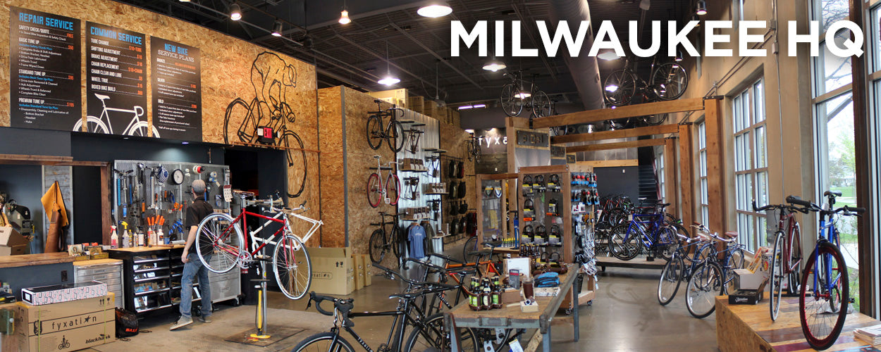 garage office conversion ideas - Milwaukee Bicycle Shop Fyxation Bicycles