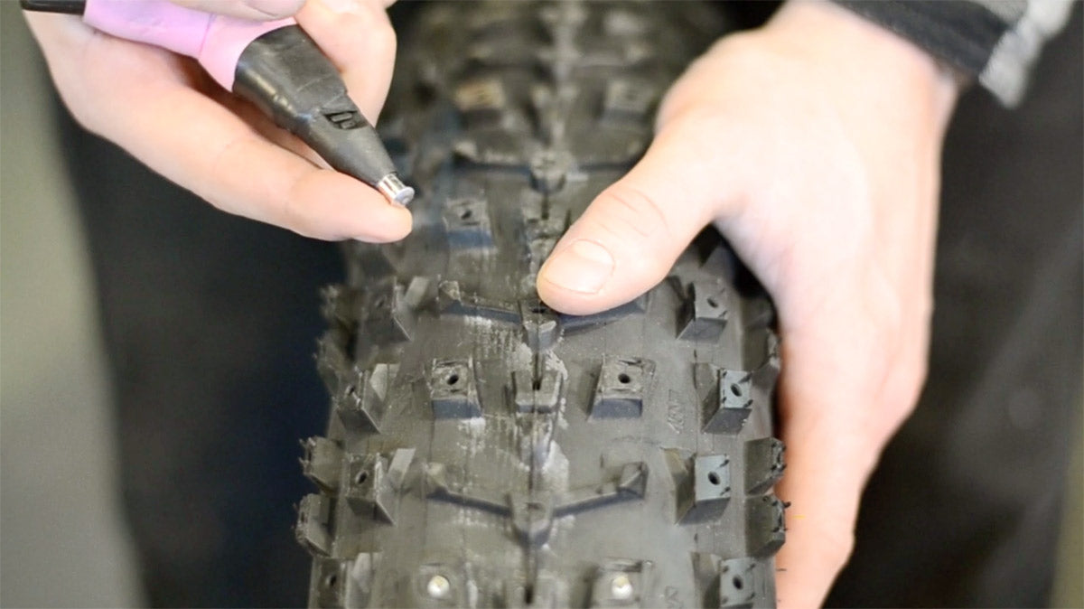 Installing studs on a 45Nrth Dillinger 5 fat bike tire
