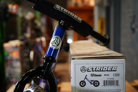 Strider Classic Push Bike Blue Warehouse Sale