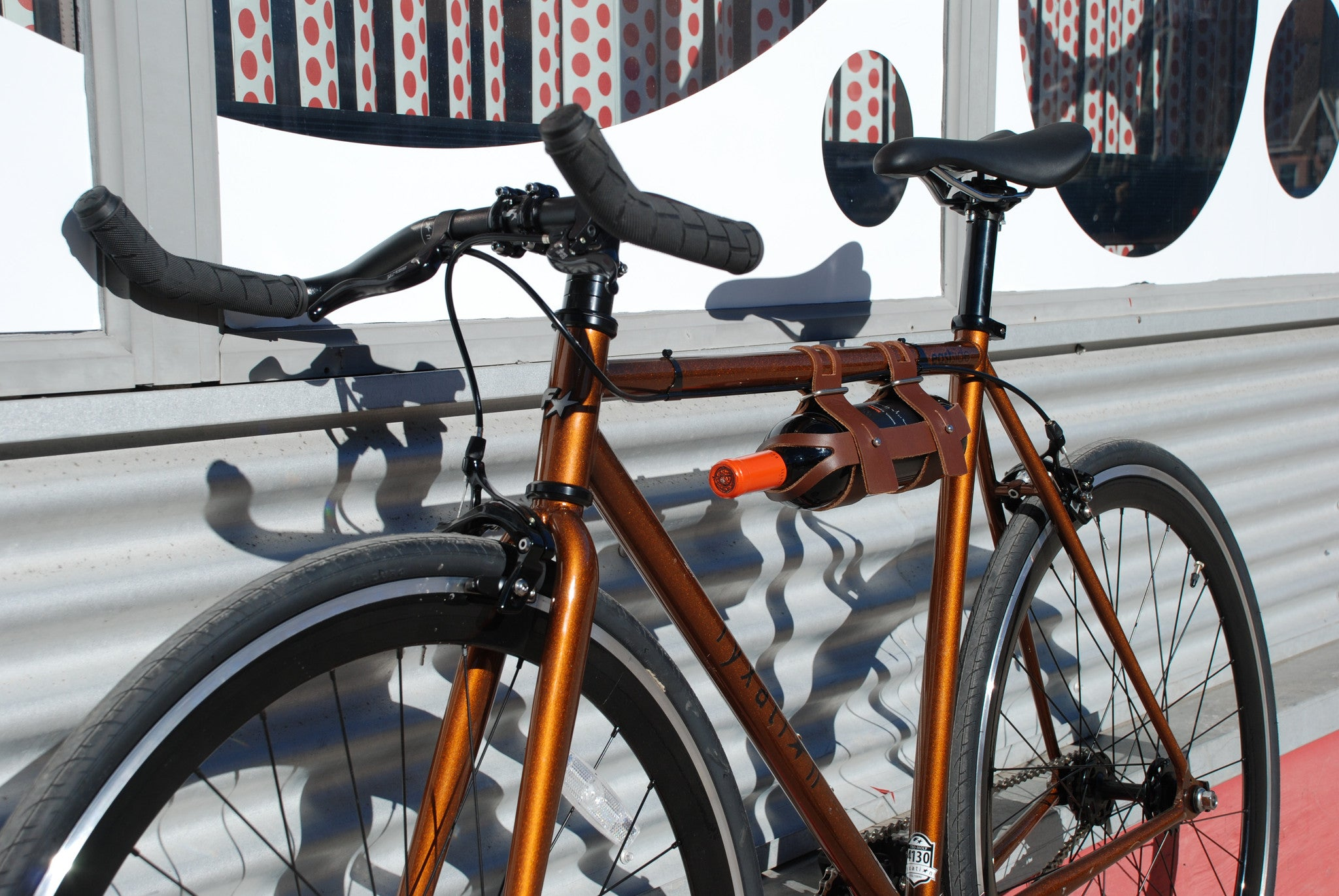 Fyxation Leather Bicycle Wine Caddy Fyxation