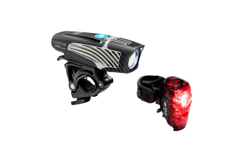 NiteRider Lumina USB Light Set - 1200 Boost Front / Solas 250 Rear