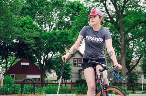 Women's Fyxation Bicycle Company Logo T-Shirt