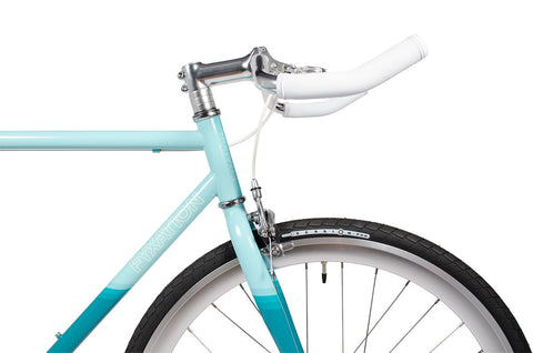 Silver Pursuit Bullhorn Bars with Silver Fixed Gear Wheels