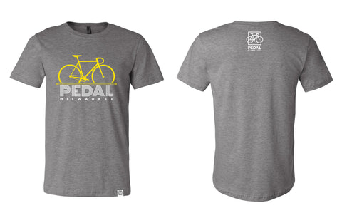 Pedal Milwaukee Disco T- Shirt Heather Gray