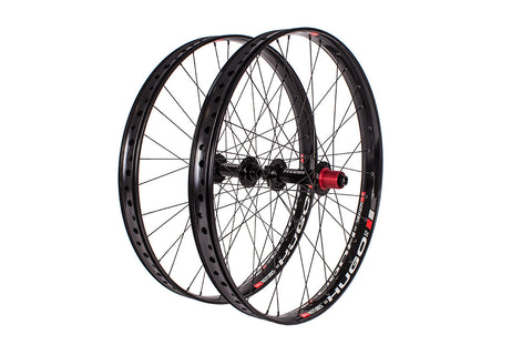 "Fyxation Blackhawk Hubs x Hugo 26""+ Fat Bike Wheelset"