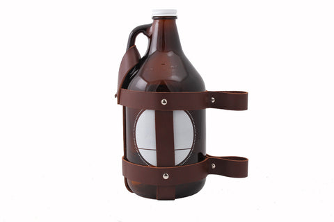 Leather Growler Holder