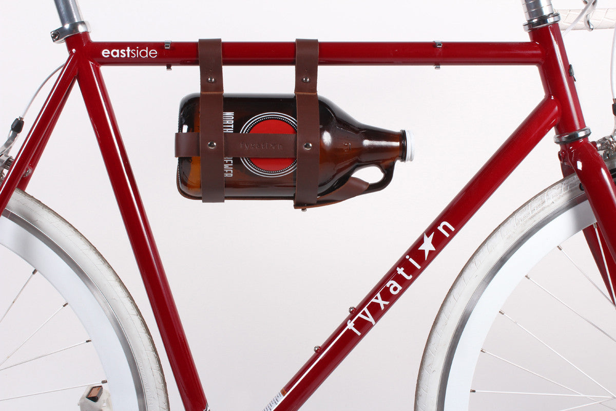 Fyxation Bicycle Growler Carrier Leather Brown Fyxation