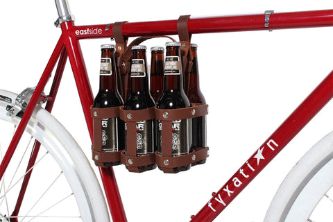 Leather Bicycle Six Pack Caddy