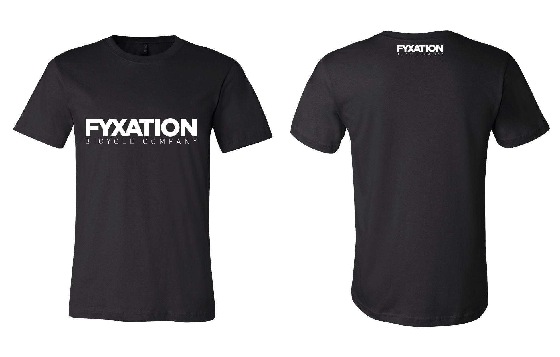 fyxation bicycle company logo t shirt fyxation
