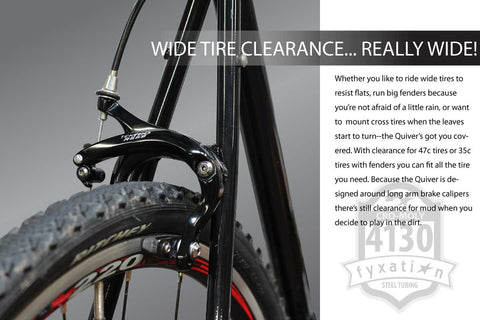 Wide Bicycle Tire Clearance
