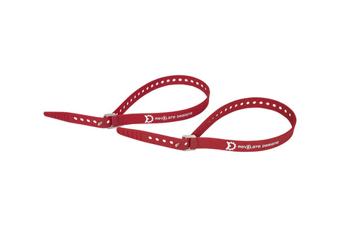 "Revelate Designs Washboard Utility Strap 2-Pack: 20"", Red"