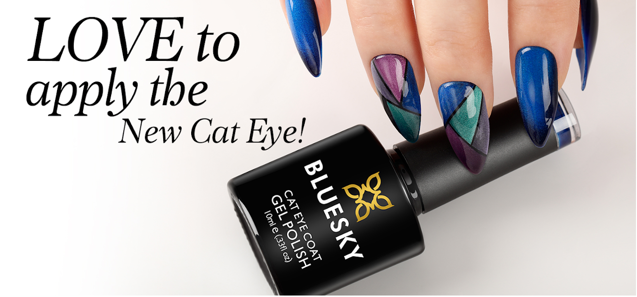Cat Eye Gel Nagellack mit Hand