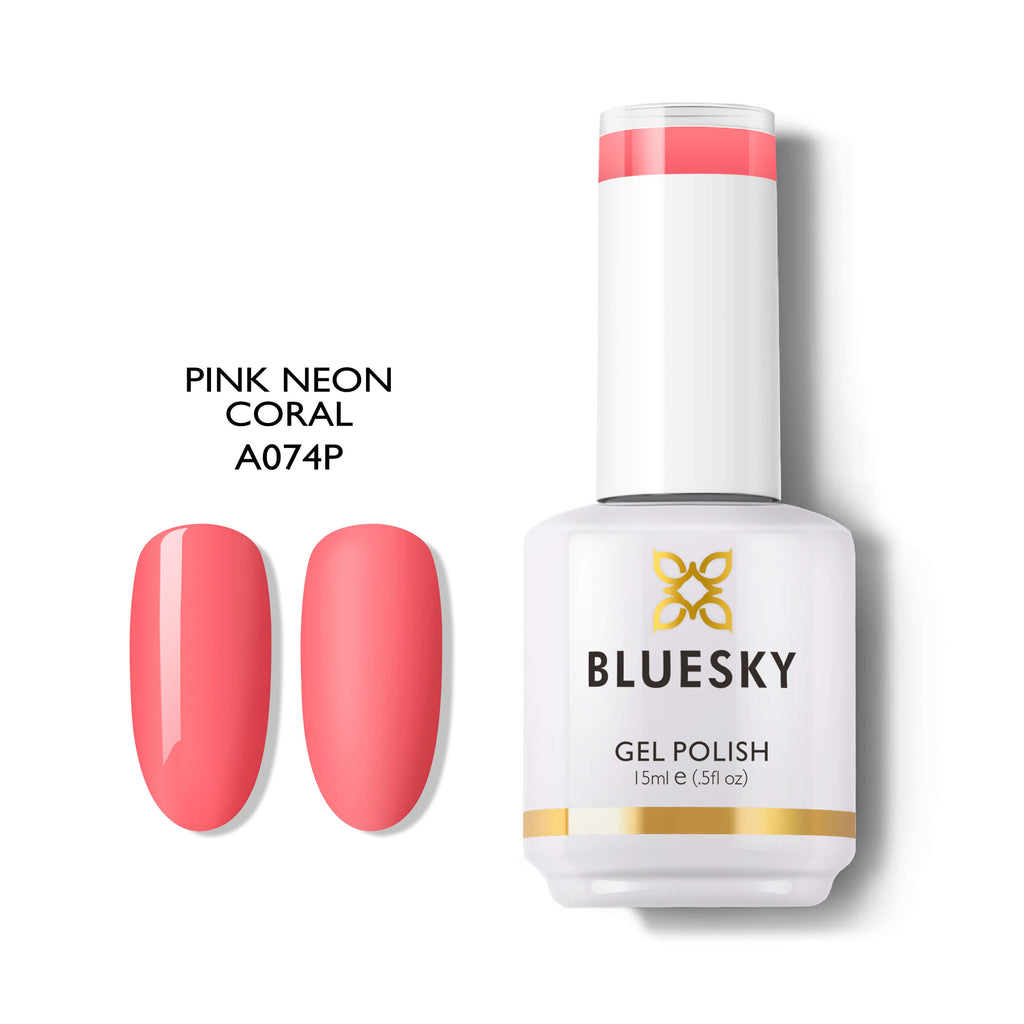 BLUESKY A074 Pink Neon Coral, 15ml