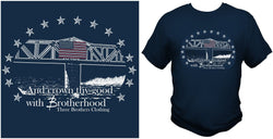 Flag Bridge T-shirt and Longsleeve - Three Brothers Clothing