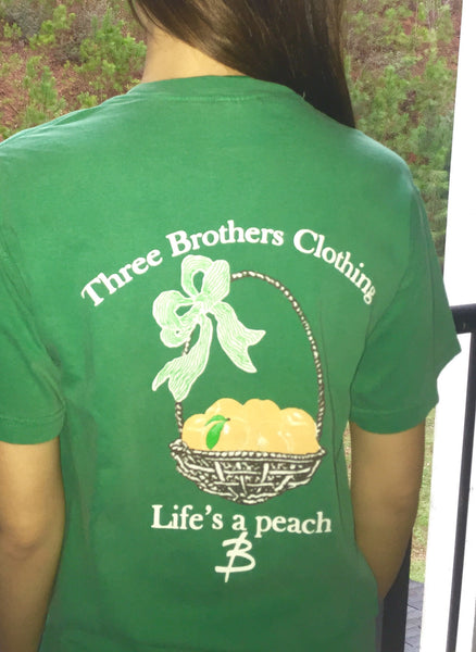Life's a Peach Pocket T-shirt - Three Brothers Clothing