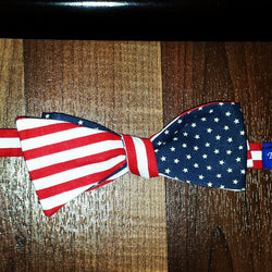 Stars and Stripes Three Way Bro Tie - Three Brothers Clothing