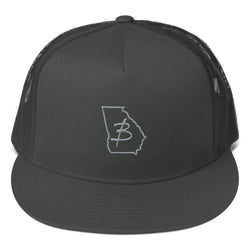 Grey Ga State Trucker Cap - Three Brothers Clothing