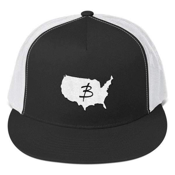 USA Logo Trucker Hat - Three Brothers Clothing