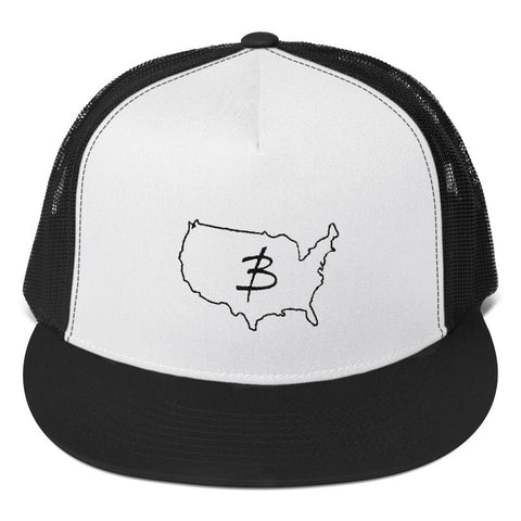 USA Logo Trucker Cap - Three Brothers Clothing