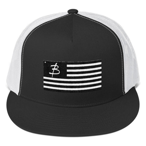 USA Blacked Out Trucker Cap - Three Brothers Clothing