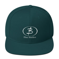 Spruce, Silver, Maroon Wool Blend Snapback - Three Brothers Clothing