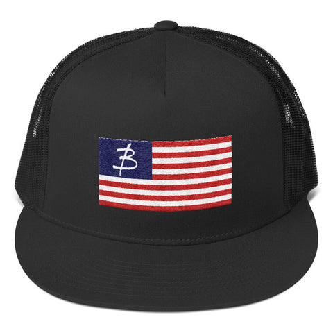 Red White & Blue Trucker Cap - Three Brothers Clothing