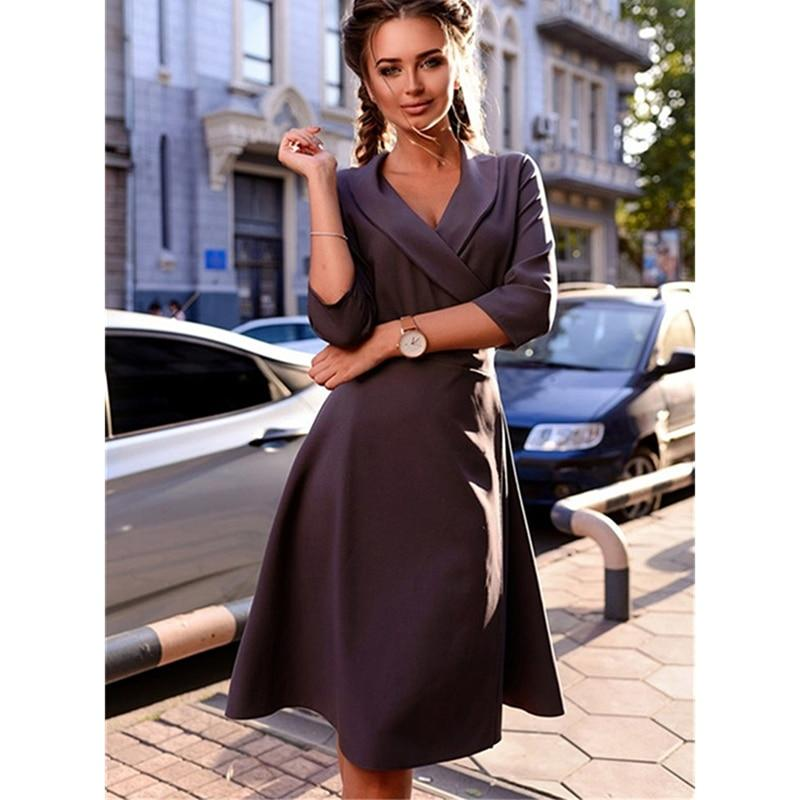 KNEE LENGTH HALF SLEEVE DRESS