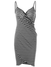 Women's Sexy Summer Backless Striped Dress Cover ups Beach Dresses