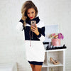 Women Hooded Long Sleeve Dress Fashion Ladies