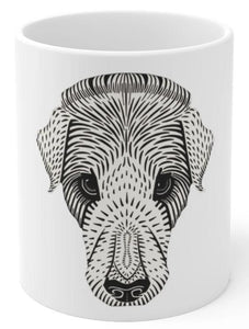 Dog face coffee mug