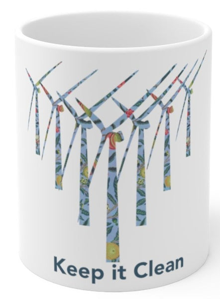 Keep it clean windmill coffee mug