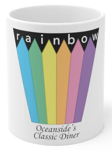 Rainbow Diner Oceanside coffee mug