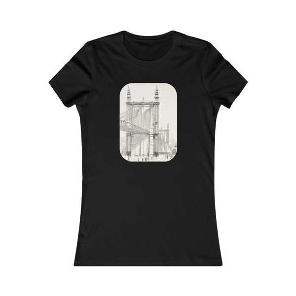 Brooklyn Bridge Drawing - Women's T-shirt