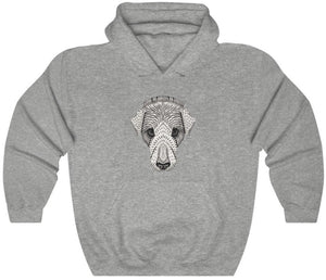 Dog face hoodie