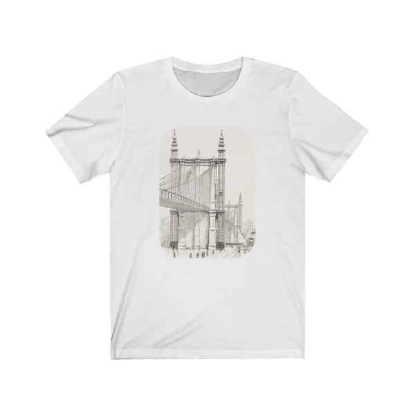 Brooklyn Bridge Drawing - Unisex T-shirt