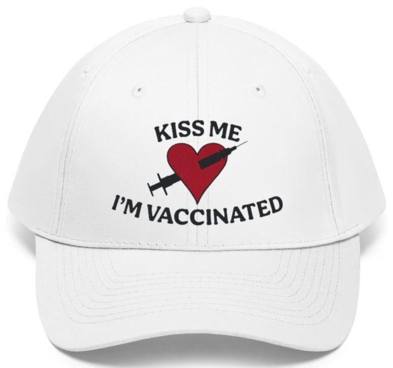 Kiss me I'm vaccinated hat