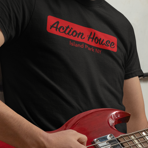 Action House unisex t-shirt. Old Long Island Rock & Roll club.