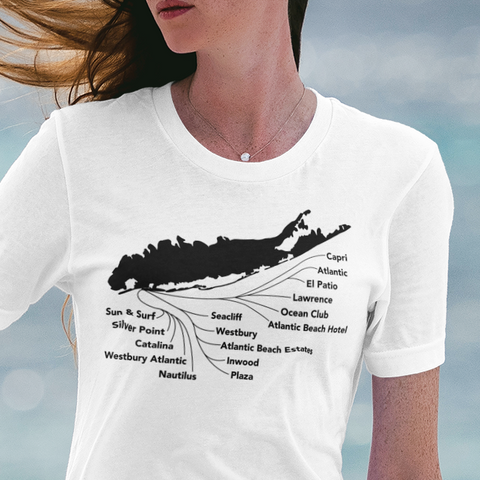 Atlantic Beach beach clubs Long Island t-shirt