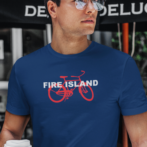 Fire Island and bicycle unisex t-shirt