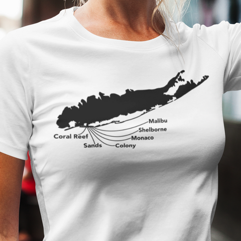 Long Island beach clubs women's t shirt