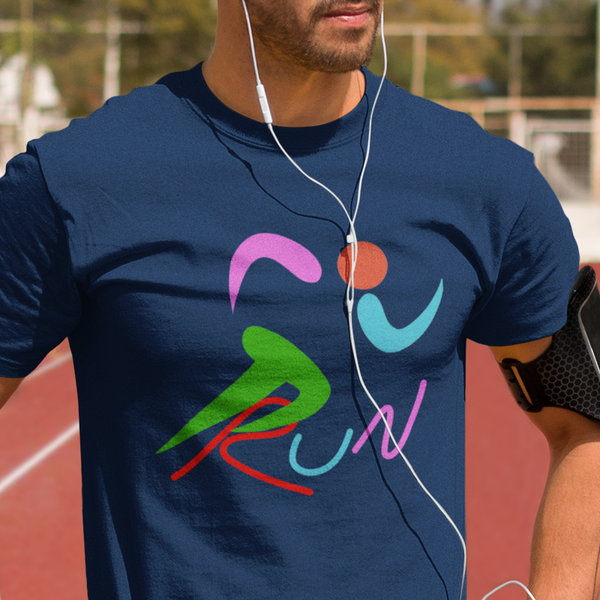 Brightly colored runner unisex t-shirt