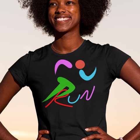 Brightly colored runner women's t-shirt