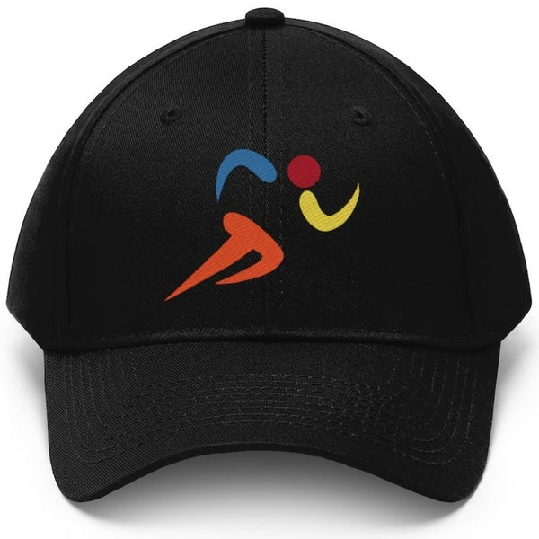 Colorful runner icon hat