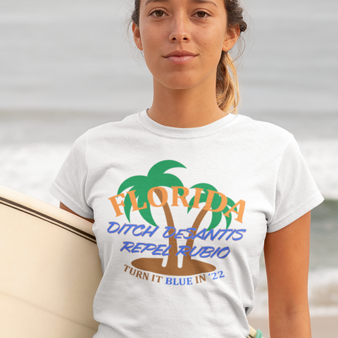 Turn Florida Blue women's t-shirt. Vote Democratic.