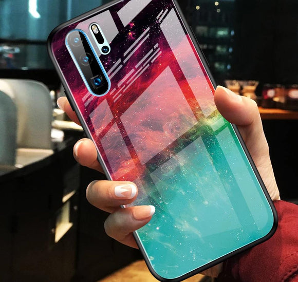 Huawei P Honor & Mate Modell Luxus Cases Weltraum-Look Space