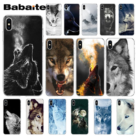 Wolf Silikon-Hülle für alle iPhone Modelle - Wolf Cover