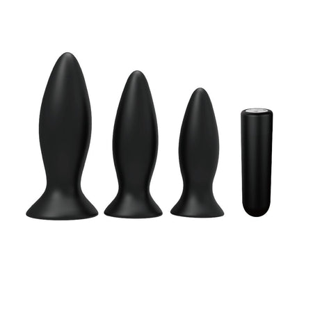 Beginner Rechargeable Butt Plug Vibrator Set of 3
